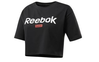 REEBOK CAMISETA TRAINING ESSENTIAL LINEAR NEGRO MUJER