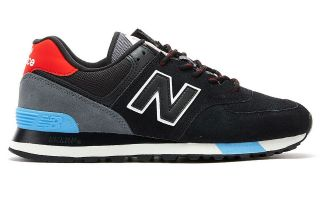 NEW BALANCE ML574 NEGRO ROJO ML574JHO