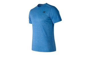 NEW BALANCE CAMISETA SS HEATHER TECH AZUL