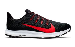 Nike Quest 2 Negro Rojo - Diseño y calidad