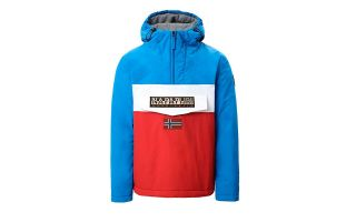 Napapijri SWEATSHIRT RAINFOREST BLOCK ROUGE BLEU BLANC