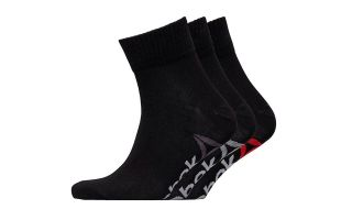 REEBOK PACK 3 CALCETINES ESSENTIALS QUARTER NEGRO