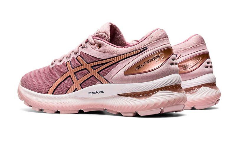 Asics Gel Nimbus 22 rosa gold mujer - Corre largas distancias