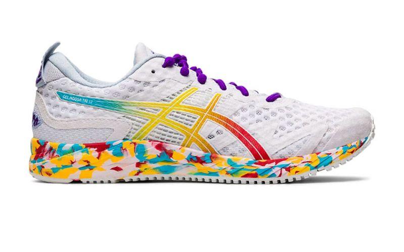 Asics Gel-Noosa Tri 12 Blanco Multicolor Mujer - Zapatillas ...