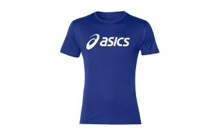 Asics SILVER T-SHIRT NAVY BLUE