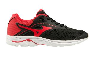 Mizuno WAVE RIDER 23 BLACK RED CHILD