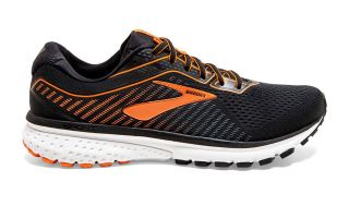 BROOKS GHOST 12 SCHWARZ ORANGE 1103161D009