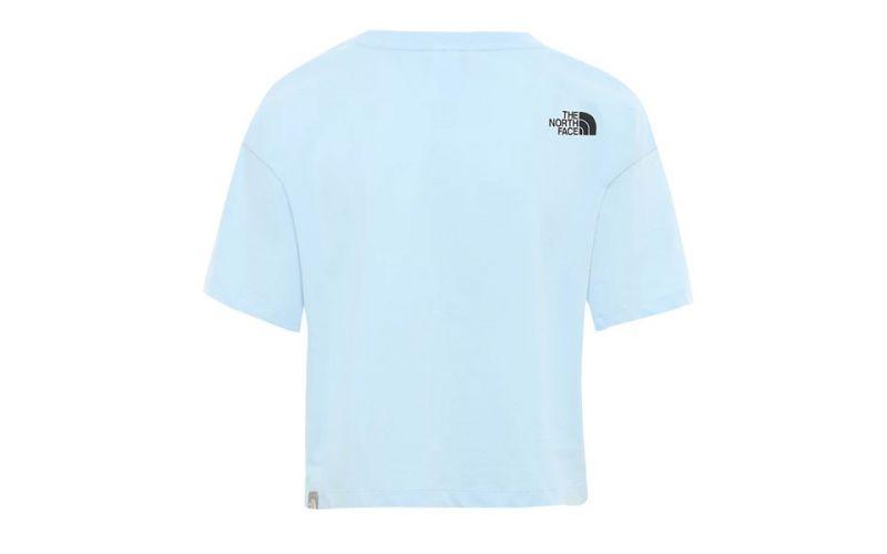 Grabar Malentendido Más  Camiseta The Noth Face Fine azul celeste mujer - Ajuste holgado