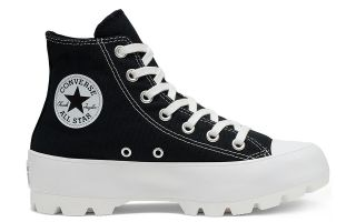 Converse CHUCK TAYLOR ALL STAR LUGGED HI TOP BLACK WHITE WOMAN