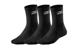 Mizuno TRAINING SOCKS 3 PAIRS BLACK