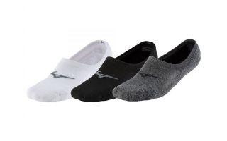 Mizuno SUPER SHORT SOCKS 3 PAIRS WHITE BLACK GREY