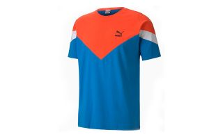 Puma T-SHIRT ICONIC MCS BLEU ORANGE