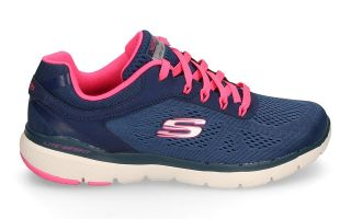 Skechers FLEX APPEAL 3.0 AZUL NAVY FUCSIA MUJER 13059NVHP