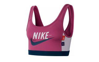 Nike SUJETADOR SWOOSH ICON CLASH MORADO