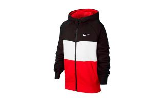 Nike AIR JACKET BLACK RED JUNIOR
