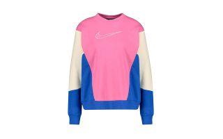 Nike SUDADERA SPORTSWEAR CREW HBRT ROSA AZUL MUJER