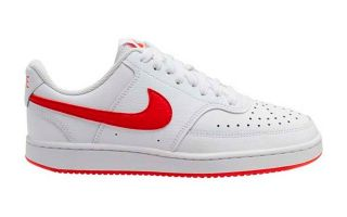 Nike NIKECOURT VISION LOW WHITE RED WOMAN