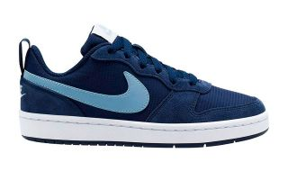 NIKE COURT BOROUGH LOW 2 BLU BIANCO BAMBINO CD6144-400