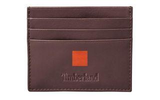 TIMBERLAND BROWN CARD HOLDER