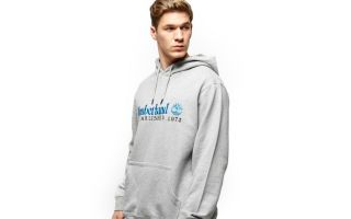 Timberland SWEAT-SHIRT AVEC CAPUCHE OVERSIZED ARCHIVE GRIS