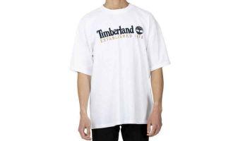Timberland T-SHIRT EMBROIDERY BLANC