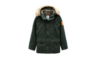 Timberland GIACCA PARKA SCAR RIDGE DOWNFREE VERDE