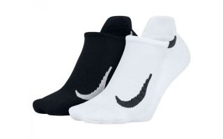 NIKE CALCETINES MLTPLIER 2 PARES NEGRO BLANCO
