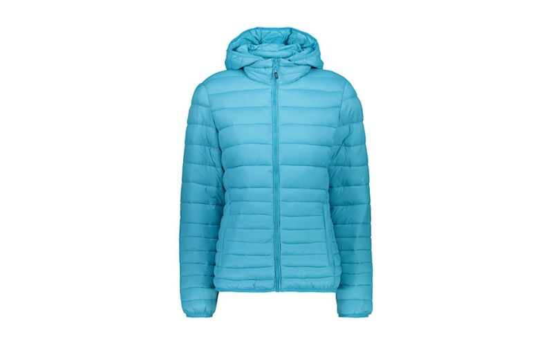AQUAMARINE BLUE ZIP JACKET WOMAN