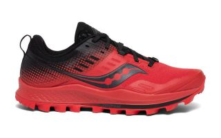 Saucony PEREGRINE ST 10 RED BLACK