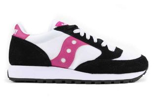 SAUCONY JAZZ ORIGINAL VINTAGE WHITE BLACK WOMAN