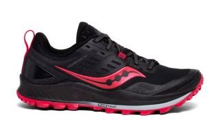 Saucony PEREGRINE 10 BLACK RED WOMAN