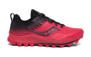 Saucony PEREGRINE 10 ST RED BLACK WOMAN