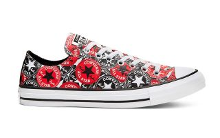 Converse CTAS OX BLACK RED 166986C