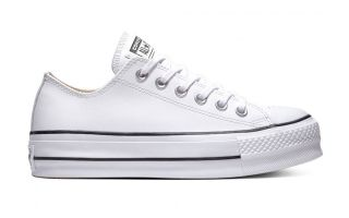 Converse CHUCK TAYLOR ALL STAR LIFT CLEAN OX BIANCO DONNA 561680C