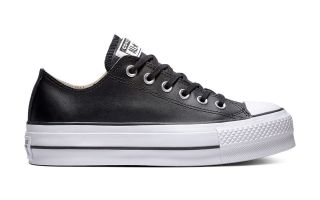 Converse CHUCK TAYLOR ALL STAR LIFT CLEAN OX NERO DONNA 561681C