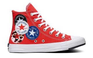 Converse CHUCK TAYLOR ALL STAR LOGO PLAY HIGH TOP ROJO 166736C