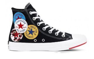 Converse CHUCK TAYLOR ALL STAR LOGO PLAY HIGH TOP NEGRO 166734C
