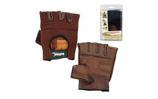 Softee PAIR OF BROWN FITNESS GLOVES