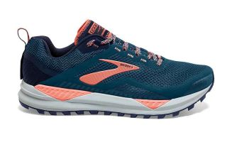 Brooks CASCADIA 14 CORAL NAVY MUJER 1203041B402