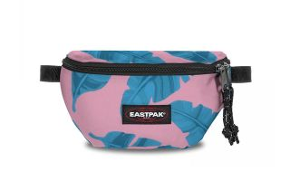 EASTPAK FANNY PACK SPRINGER BRIZE LEAVES PINK WOMEN