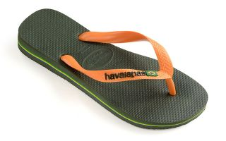 Havaianas TONGS BRASIL LOGO VERT ORANGE UNISEX