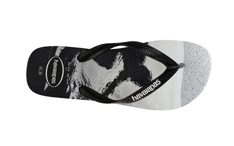 TOP PHOTOPRINT BLACK WHITE FLIP-FLOPS