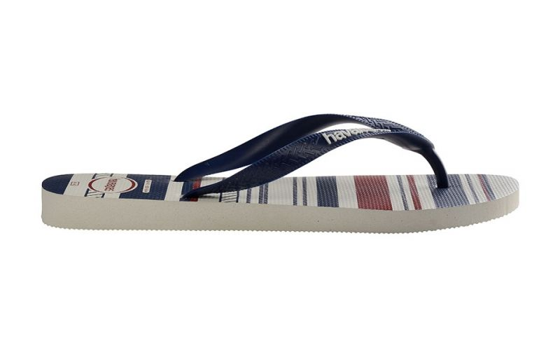 CHANCLAS HAVAIANAS TOP NAUTICAL BLANCO AZUL NAVY