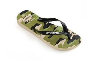 Havaianas CHANCLAS TOP CAMU BEIGE NEGRO JUNIOR