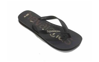 HAVAIANAS CHANCLAS TOP LOGOMANIA NEGRO BLANCO JUNIOR