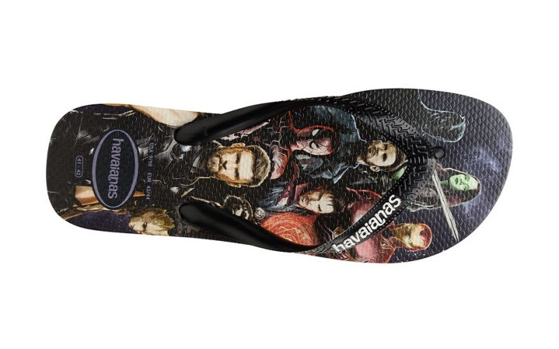 CHANCLAS TOP MARVEL NEGRO