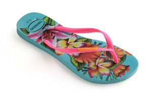 Havaianas FLIP-FLOPS SLIM FLORAL BLUE WOMAN