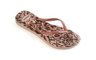 HAVAIANAS CHANCLAS SLIM ANIMALS ROSA GOLD NI�A
