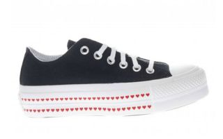 Converse CTAS LIFT LOVE NERO DONNA