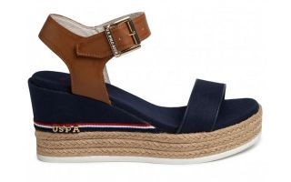 US POLO ASSN ESPADRILLES MICHELA NAVY BLUE WOMAN